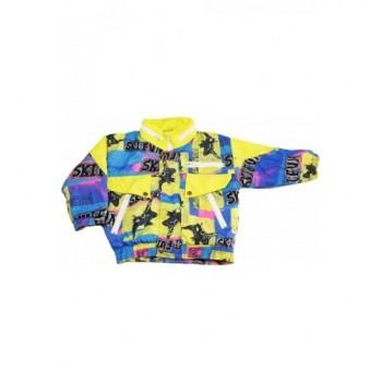 Mintás kék-sárga kabát (98-104)