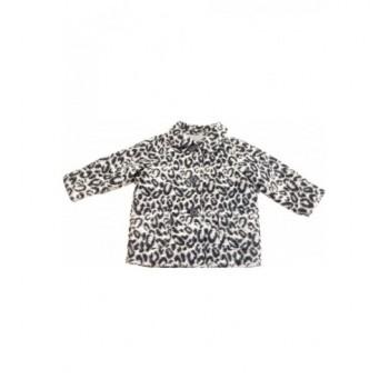 Párducmintás fekete-fehér kabát (98)