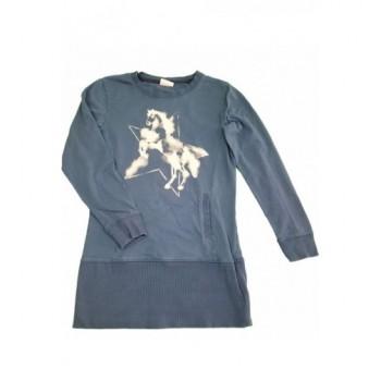 Lovas kék pulóver (146-152)