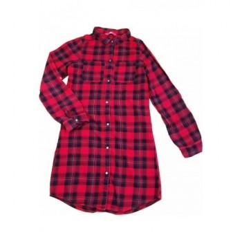 Piros kockás ing-ruha (158)