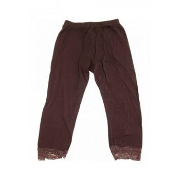 Sötétbarna capri leggings (116-122)