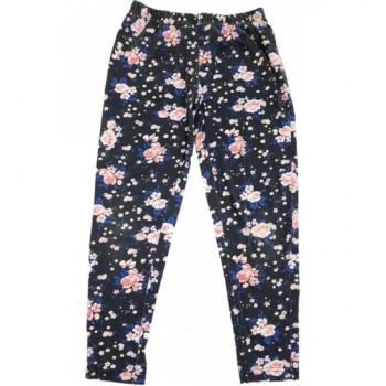 Rózsás sötétszürke capri leggings (134-140)
