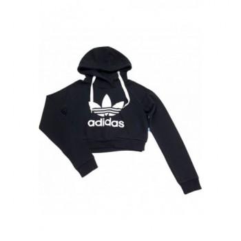 Adidas fekete crop pulóver (36)