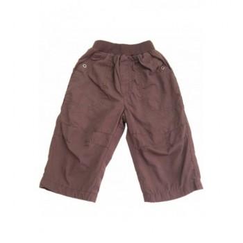 Bélelt sötétbarna nadrág (74-80)