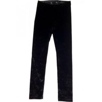 Fekete bársony leggings (146-152)