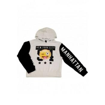 Flitteres fekete-fehér pulóver (128)