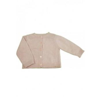 Rózsaszín kasmír-keverék kardigán (62)