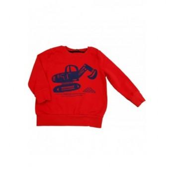 Markolós piros pulóver (92-98)