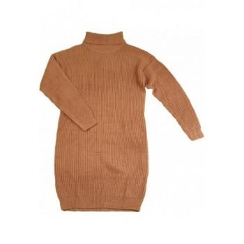 Világosbarna kötött ruha (164-170)