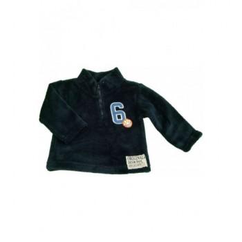 Rátétes sötétkék pulóver (80)