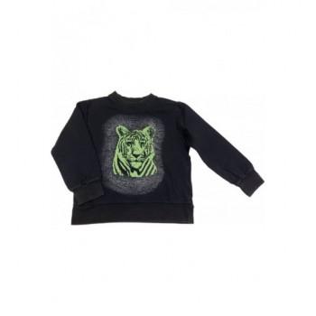 Tigrises fekete pulóver (110-116)