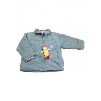 Kék mikrokord kabát (86-92)