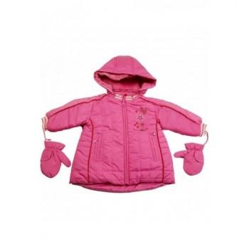 Virágos pink kabát (62-68)
