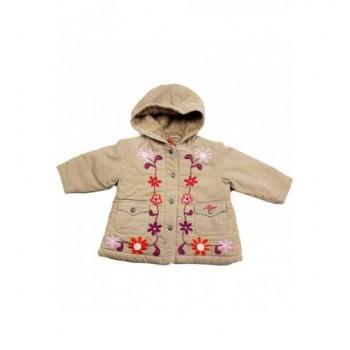 Hímzett drapp kabát (74-80)