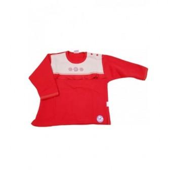 Virágos piros pulóver (86)