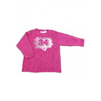 Feliratos mályva pulóver (74)