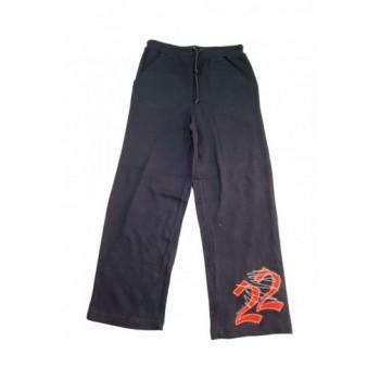 Feliratos sötétkék nadrág (140-146)