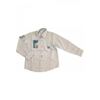 Feliratos halványkék ing (110)
