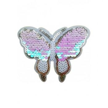 Ruhára vasalható folt – ezüst pillangó