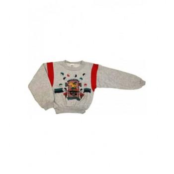 Nyuszis szürke pulóver (110)
