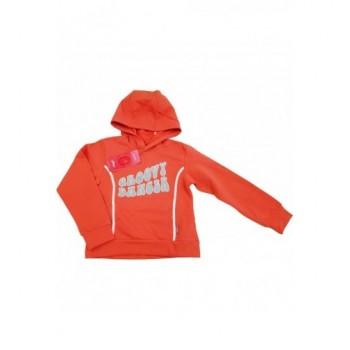 Feliratos narancssárga pulóver (128)