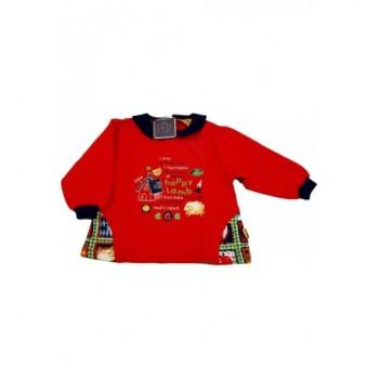 Házikós piros pulóver (86)