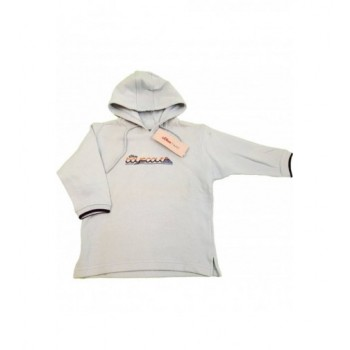Feliratos világoskék pulóver (98)