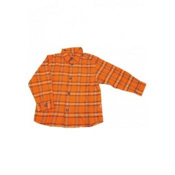 Narancs kockás flanel ing (110)