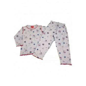 Cicás kék pizsama (86-92)