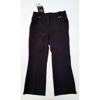 Fekete gombos alkalmi nadrág (152)