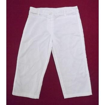 Fehér lenes térdnadrág (122)