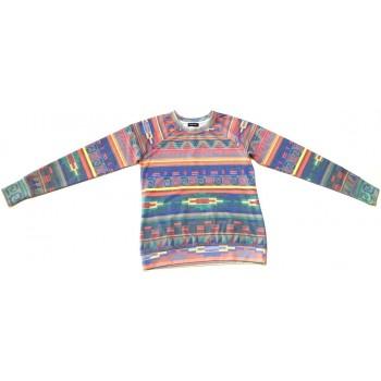Színes mintás pulóver (158-164)