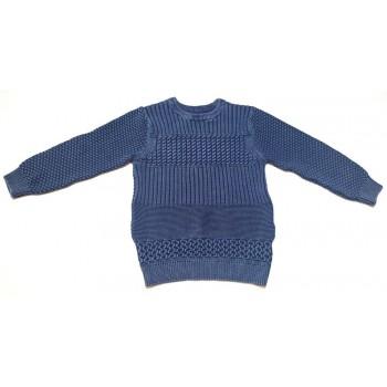 Szürkéskék kötött pulóver (122-128)