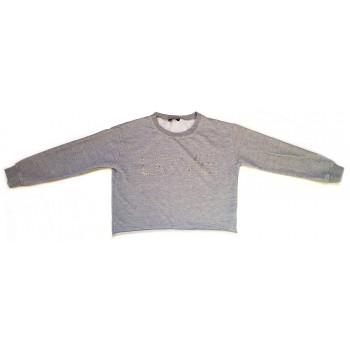 Szürke flitteres pulóver (152-158)