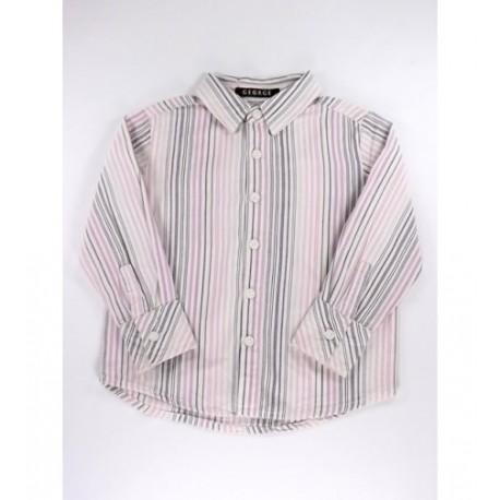 Fehér lila-rózsaszín csíkos ing