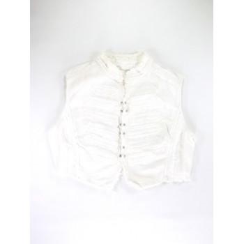 Fehér rojtos mellény (140)
