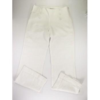 Fehér lenvászon nadrág (152)