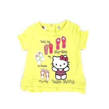 Sárga papucsos Hello Kitty póló