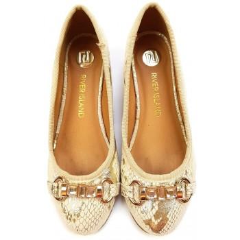 Arany kígyóbőr mintás topánka (31)