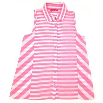 Pink csíkos felső (140)