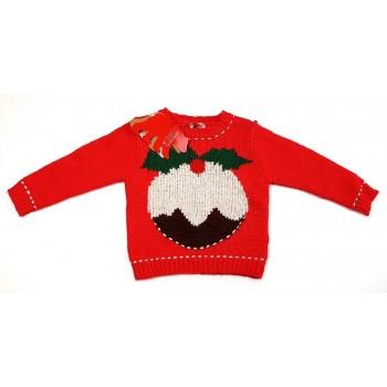 """""""Sütis piros kötött pulóver (98)"""""""