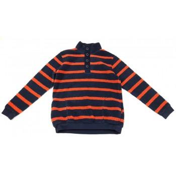 Narancs-kék csíkos pulóver (164)