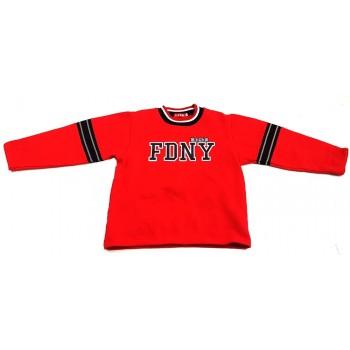 Feliratos piros pulóver (134)