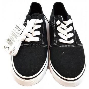 Új, fekete vászoncipő (37)