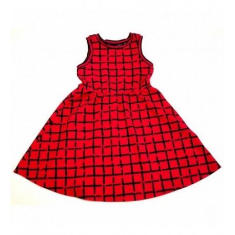 Pink-fekete kockás ruha (146-152)