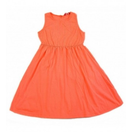 Csipkevirágos neonpink ruha (146)