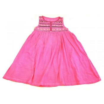 Hímzett neonpink ruha (140)