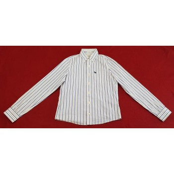 Kék csíkos fehér ing (158-164)