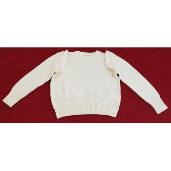 Fehér kötött pulóver (164-170)