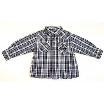 Feliratos szürke kockás ing (80)